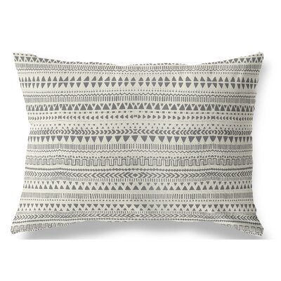 Christenson Indoor/Outdoor Lumbar Pillow Color: Tan/Gray