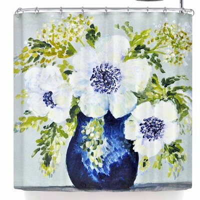 Jennifer Rizzo Anemones In Vase Shower Curtain