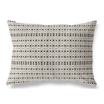 Liberty Hill Indoor/Outdoor Lumbar Pillow Color: Black/Tan