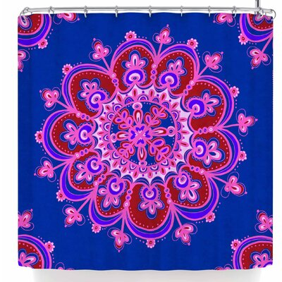 Jane Smith India Meditation Mandala Tile Shower Curtain
