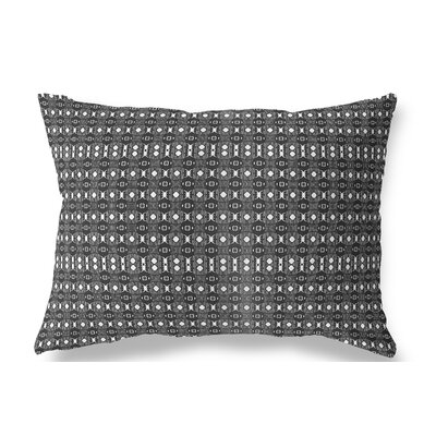Liberty Hill Indoor/Outdoor Lumbar Pillow Color: White/Black