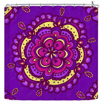 Jane Smith Socali Hippie Mandala Tile Shower Curtain