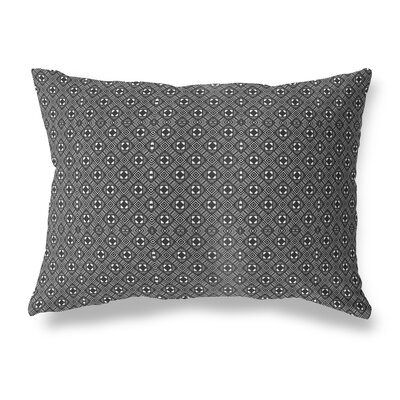 Liberty Street Indoor/Outdoor Lumbar Pillow Color: White/Black