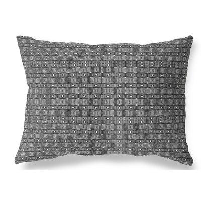 Licata Indoor/Outdoor Lumbar Pillow Color: White/Black