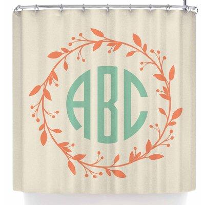 Kess Original Classic Cream Wreath Shower Curtain