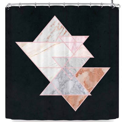 Nl Designs Triangles Shower Curtain Color: Black/White