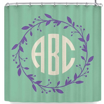 Kess Original Classic Wreath Shower Curtain