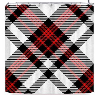 Kess Original and White Plaid Ii Shower Curtain