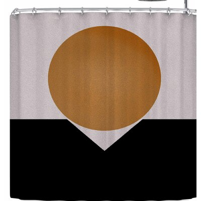 Kess Original Golden Sphere Shower Curtain