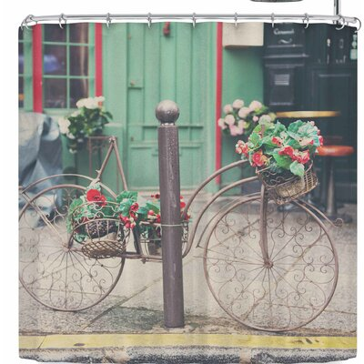 Laura Evans Bicycle Art Shower Curtain
