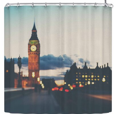 Laura Evans Crossing The Thames Shower Curtain