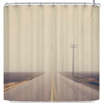 Laura Evans A Lonely Road Shower Curtain