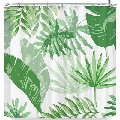 Mukta Lata Barua Tropical Vibes Shower Curtain Color: Green