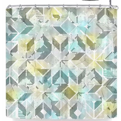 Michelle Drew Living In The City Summer Shower Curtain Color: Blue/Yellow