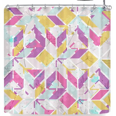 Michelle Drew Living In The City Summer Shower Curtain Color: Pink