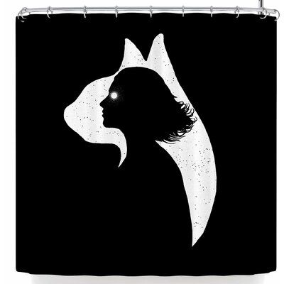 BarmalisiRTB Cat Girl Shower Curtain