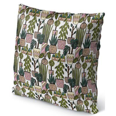 Christen Plant Indoor/Outdoor Throw Pillow Size: 18 H x 18 W