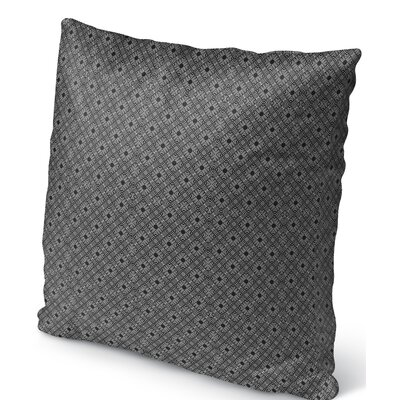 Liam Indoor/Outdoor Throw Pillow Color: White/Black, Size: 16 H x 16 W