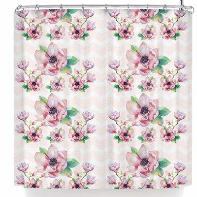 Sylvia Cook Watercolor Magnolias Shower Curtain