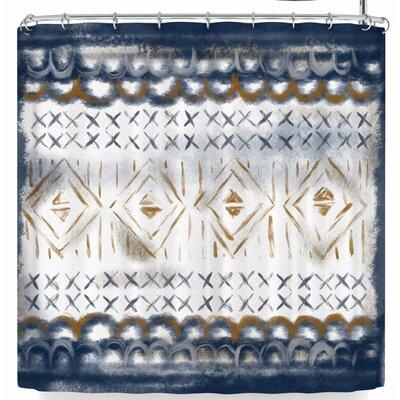 Pellerina Design Indigo Tapestry Shower Curtain