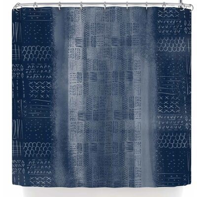 Pellerina Design Indigo Mudcloth Shower Curtain