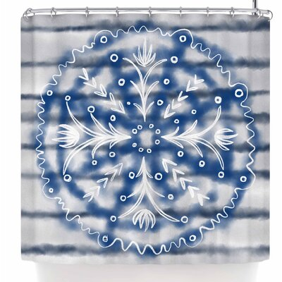 Pellerina Design Indigo Mandala Shower Curtain