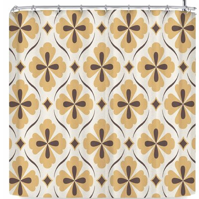 Amanda Lane Bohemian Quatrefoil Shower Curtain