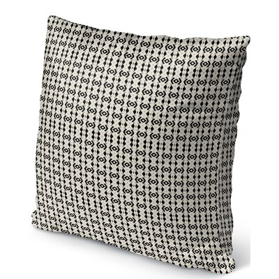 Liao Indoor/Outdoor Throw Pillow Color: Black/Tan, Size: 16 H x 16 W