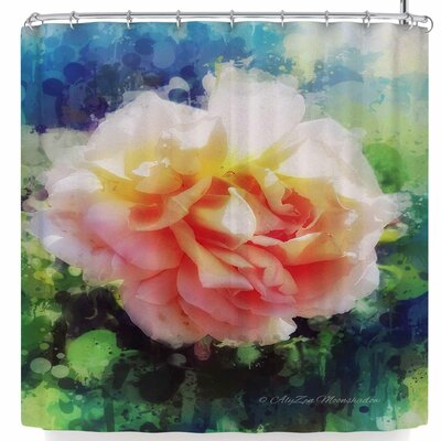 Alyzen Moonshadow Peach Ruffles Shower Curtain