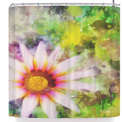 Alyzen Moonshadow Wildflower Mottled Background Shower Curtain