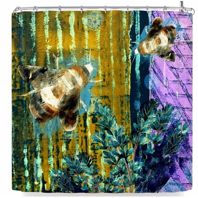 Alyzen Moonshadow Bees and Lavender Shower Curtain
