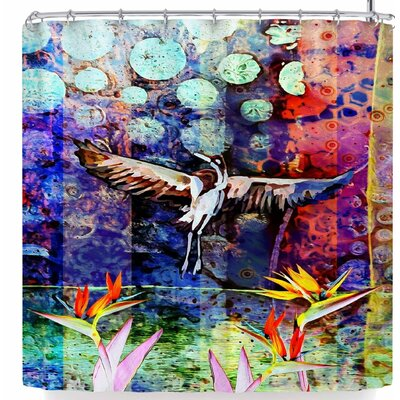 Alyzen Moonshadow Birds of Paradise Multi Shower Curtain