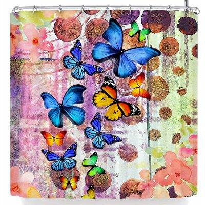 Alyzen Moonshadow Butterfly Swarm Shower Curtain