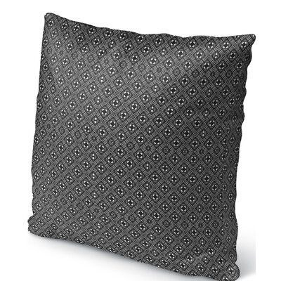 Liberty Street Indoor/Outdoor Throw Pillow Color: White/Black, Size: 26 H x 26 W