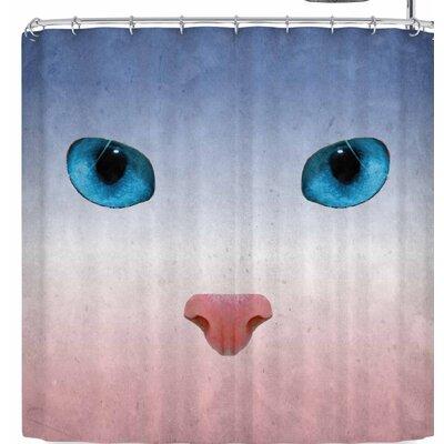 Rosa Picnic Miau Shower Curtain
