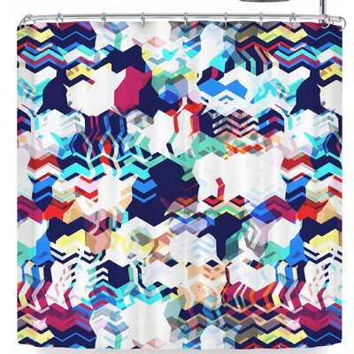 Victoria Krupp Abstract Wave Shower Curtain