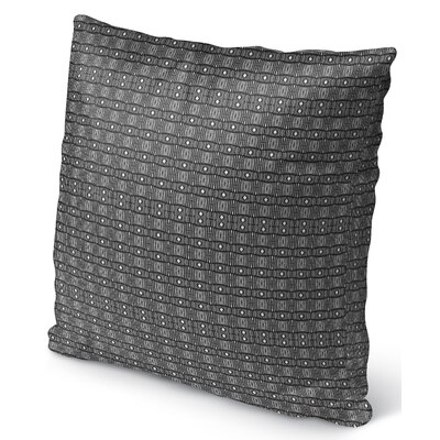 Licata Indoor/Outdoor Throw Pillow Color: White/Black, Size: 26 H x 26 W