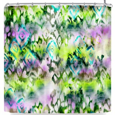 Victoria Krupp Watercolor Ikat Shower Curtain