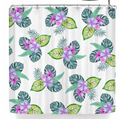 Sylvia Cook Tropical Flowers Shower Curtain