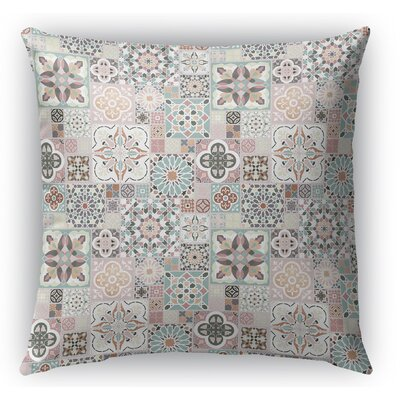 Chrisman Tiles Rose Gold Indoor/Outdoor Throw Pillow Size: 16 H x 16 W