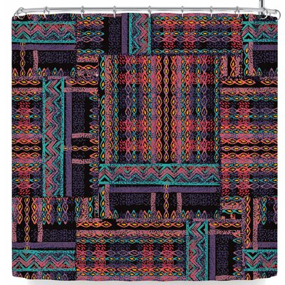 Victoria Krupp Plush N Pretty Plaid Shower Curtain