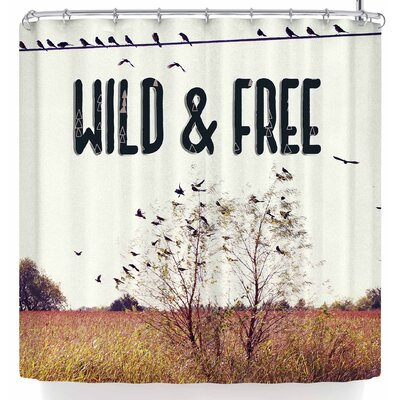 Sylvia Coomes Wild & Free Shower Curtain