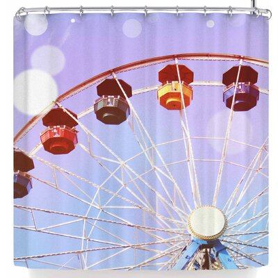 Sylvia Coomes Pastel Ferris Wheel Shower Curtain