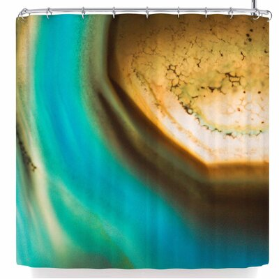 Ann Barnes Aqua + Amber Shower Curtain