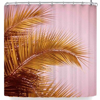 Ann Barnes Rose + Gold Tropics Shower Curtain