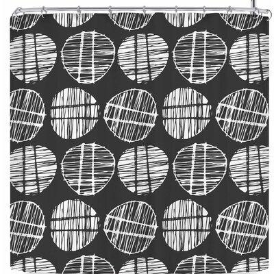 Gill Eggleston Sketched Pods Shower Curtain Color: Black