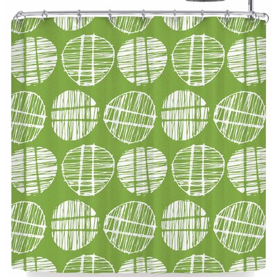 Gill Eggleston Sketched Pods Shower Curtain Color: Green