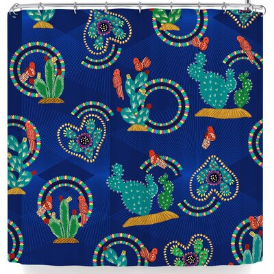 Victoria Krupp Cute Cactus Shower Curtain