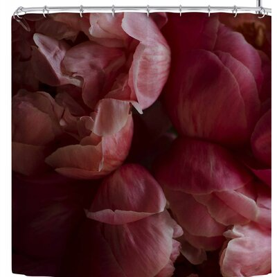 Cristina Mitchell Coral Peonies Shower Curtain