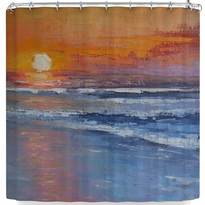 Carol Schiff The Sinking Sun Shower Curtain